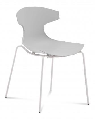 Stolička ECHO(bílý lak + biela)