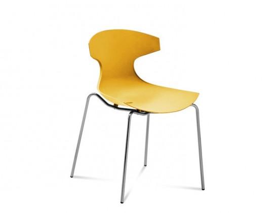 Stolička ECHO(chrom + hořčicová)