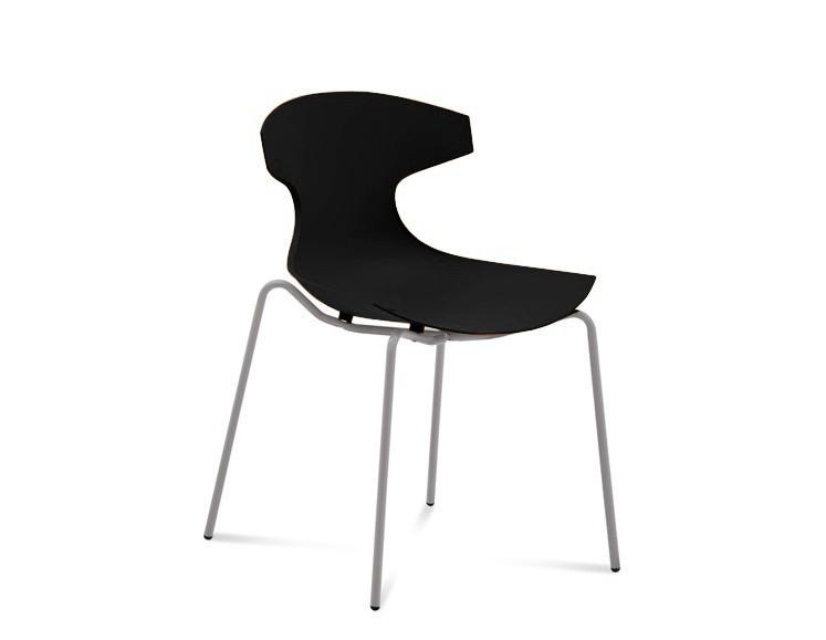 Stolička ECHO(hliník + čierna)