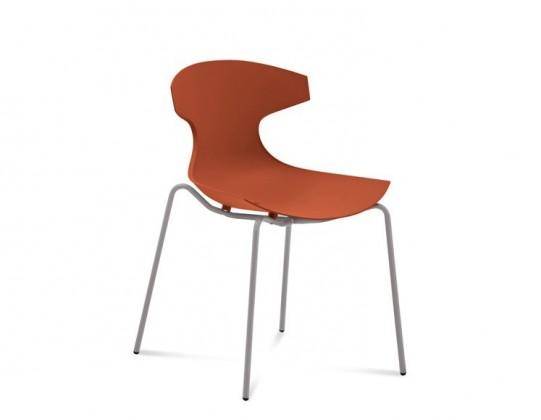 Stolička ECHO(hliník + cihlově červená)