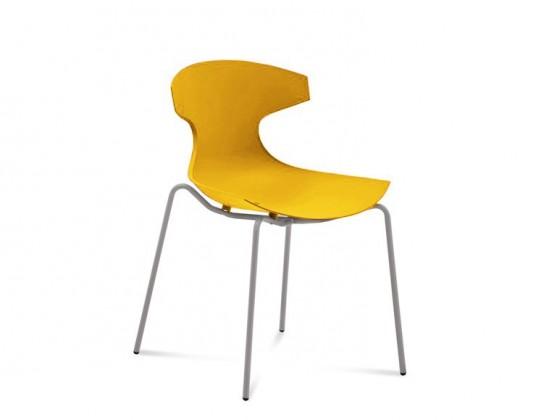 Stolička ECHO(hliník + hořčicová)