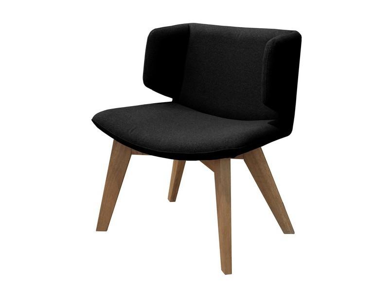 Stolička Eros - Jedálenské kreslo (dub, látka čierna)