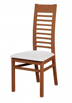Stolička Eryka - jedálenská stolička (drevo - tmavý orech/poťah - syntetická koža)