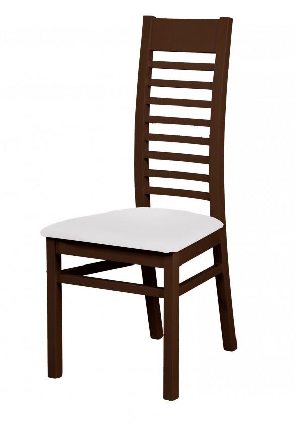 Stolička Eryka - jedálenská stolička (drevo - wenge/poťah - syntetická koža)