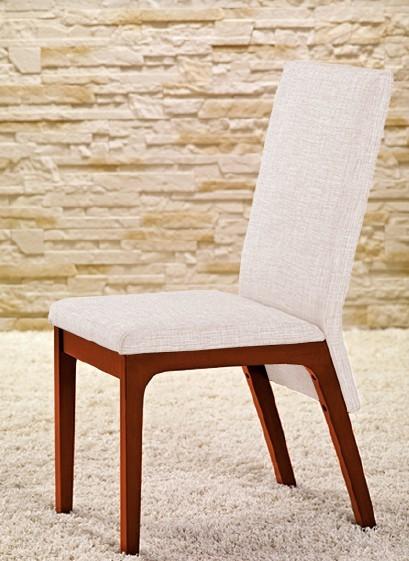 Stolička Fabrizio - Jedálenská stolička (čerešňa/eko kože krémová)