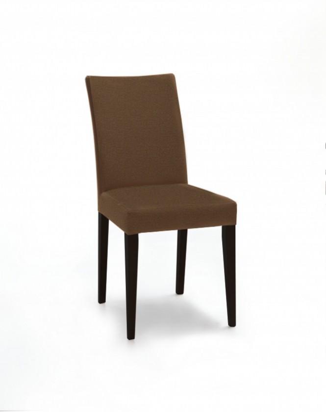 Stolička Fernanda (čierna / látka carabu hnedá)