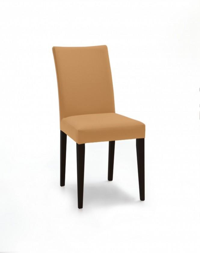Stolička Fernanda (čierna / látka navara horčicová)