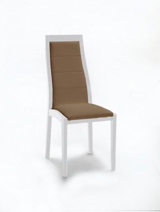 Stolička Floreana (biela mat / látka carabu hnedá)
