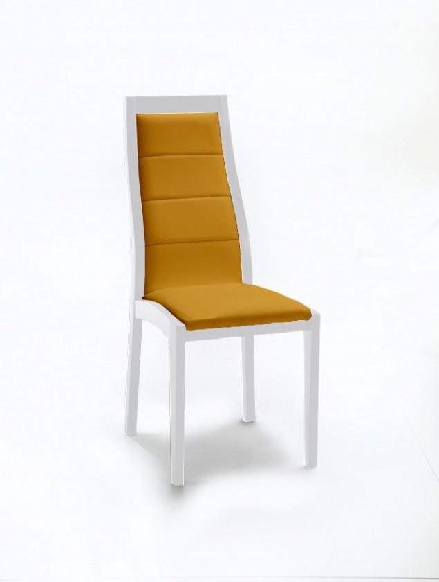 Stolička Floreana (biela mat / látka navara horčicová)