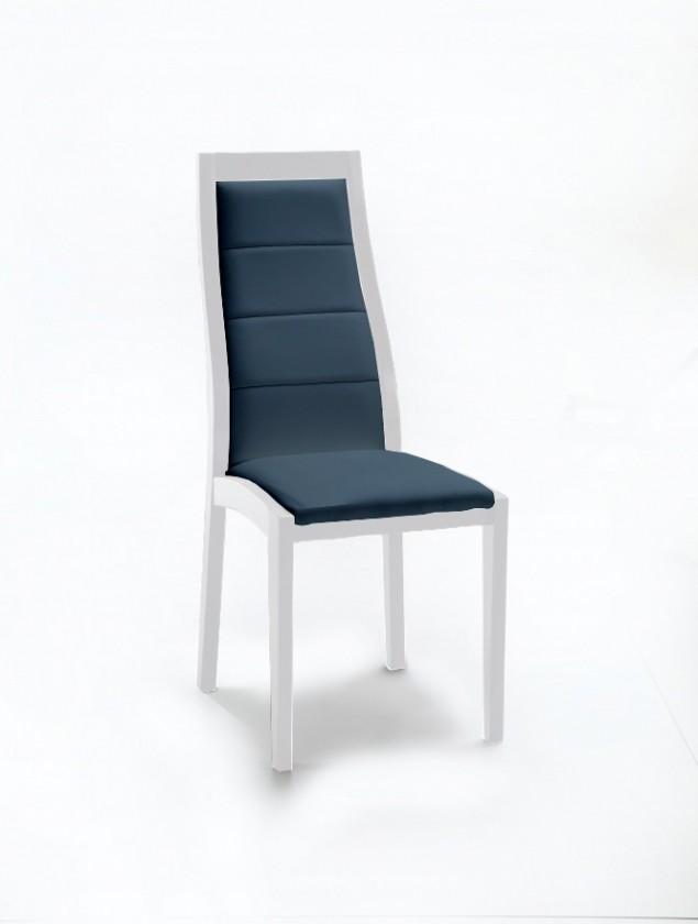 Stolička Floreana (biela mat / látka navara petrolejová)