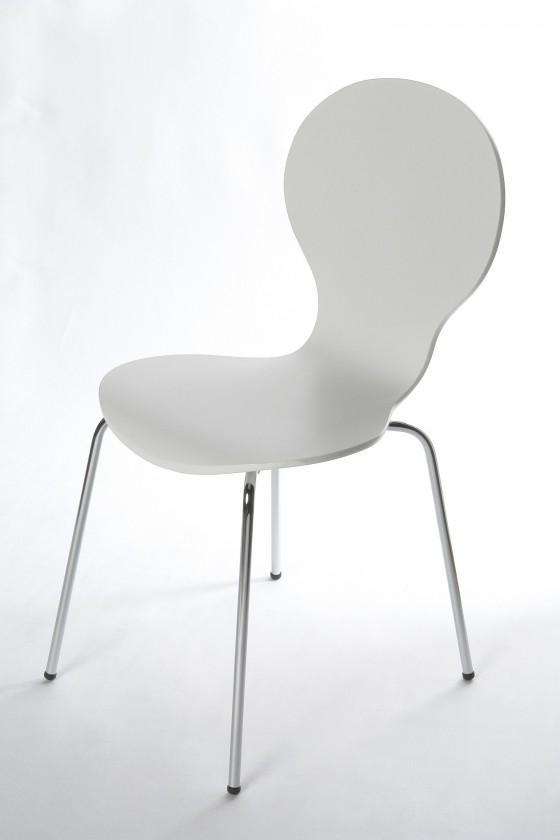 Stolička Flower - Jedálenská stolička (biela)