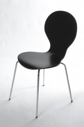Stolička Flower - Jedálenská stolička (čierna)
