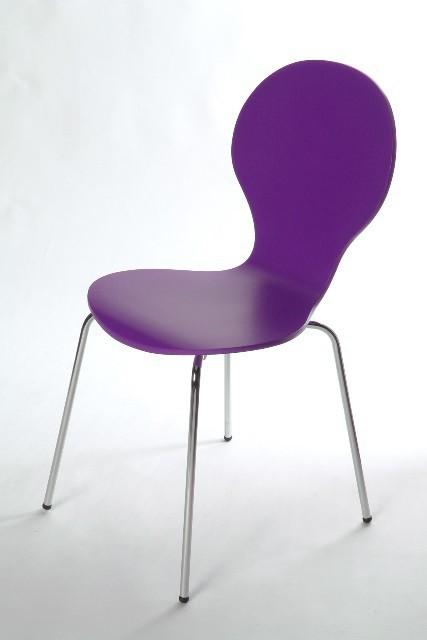 Stolička Flower - Jedálenská stolička (fialová)