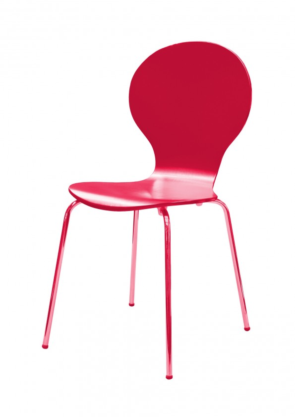 Stolička Flower - Jedálenská stolička (fuchsiová)