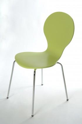 Stolička Flower - Jedálenská stolička (limetková)