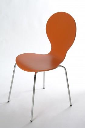 Stolička Flower - Jedálenská stolička (oranžová)