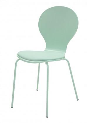 Stolička Flower - Jedálenská stolička, sedák (morská zelen, eko koža)