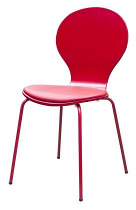 Stolička Flower - Jedálenská stolička, sedák (tulip, eko koža)