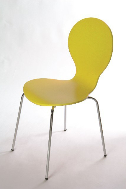 Stolička Flower - Jedálenská stolička (žltá)