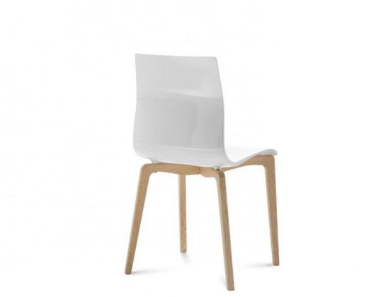 Stolička GEL-L(biela ashwood + biela)