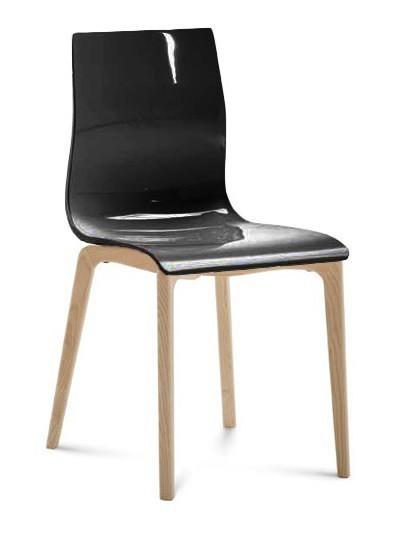 Stolička Gel-l (Čierna lesk)