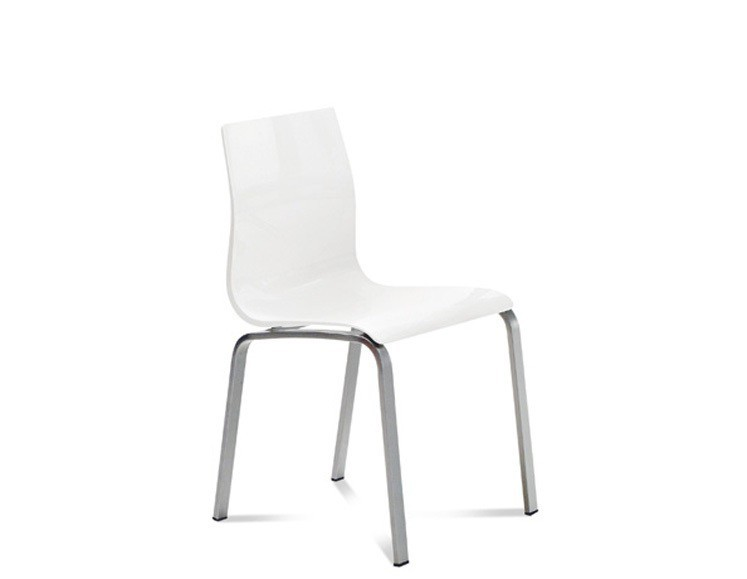 Stolička GEL-R(hliník + biela)