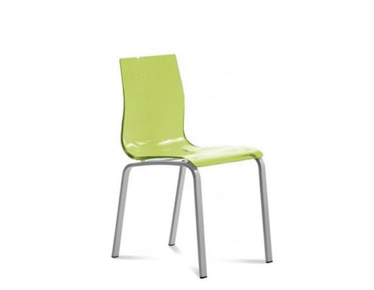 Stolička GEL-R(hliník + zelená)