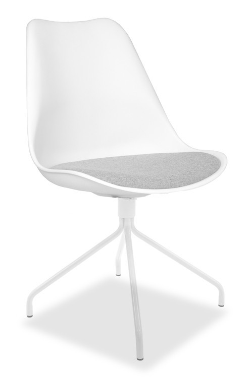 Stolička GINA 9301-413+EGO 9319-801 (biela,šedá)