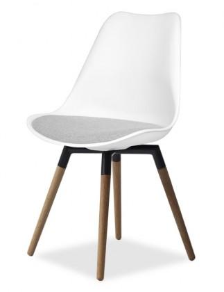 Stolička GINA 9301-413+FIDO 9315-154 (biela,šedá,čerá,dub)