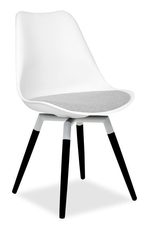 Stolička GINA 9301-413+FIDO 9315-424 (biela,šedá,čierna)