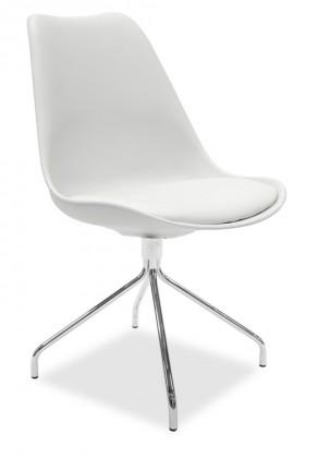 Stolička GINA 9301-801+EGO 9319-091 (biela,chróm)