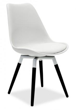 Stolička GINA 9301-801+FIDO 9315-424 (biela,čierna)