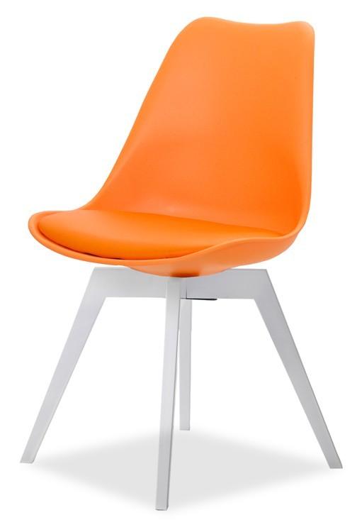 Stolička GINA 9301-817+BESS 9317-001 (oranžová,biela)