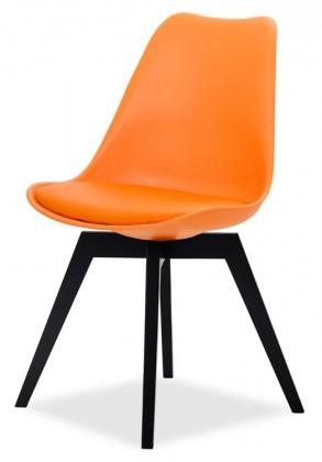 Stolička GINA 9301-817+BESS 9317-024 (oranžová,čierna)
