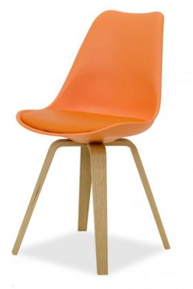 Stolička GINA 9301-817+ELLA 9318-054 (oranžová,dub)