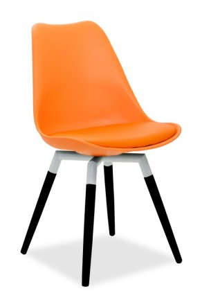 Stolička GINA 9301-817+FIDO 9315-101 (oranžová,biela,čierna)