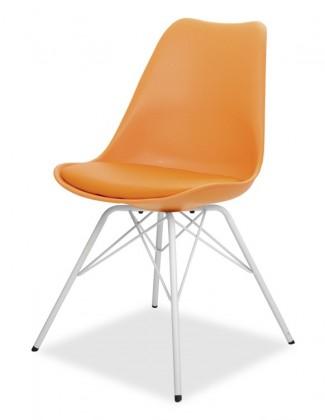 Stolička GINA 9301-817+PORGY 9316-801 (oranžová,biela)