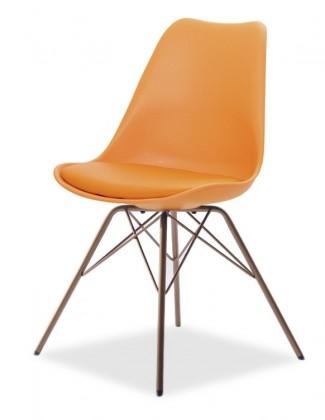 Stolička GINA 9301-817+PORGY 9316-889 (oranžová,meď)