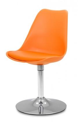 Stolička GINA 9301-817+TRUMPET 9341-091 (oranžová,chróm)
