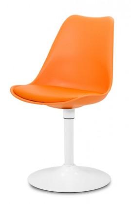 Stolička GINA 9301-817+TRUMPET 9341-801 (oranžová,biela)