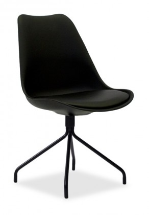 Stolička GINA 9301-824+EGO 9319-824 (čierna)