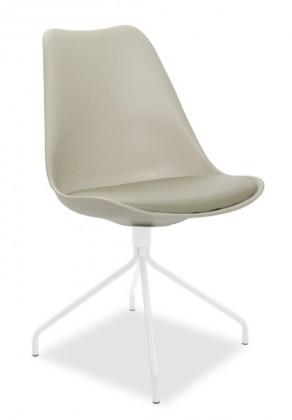 Stolička GINA 9301-883+EGO 9319-801 (béžová,biela)