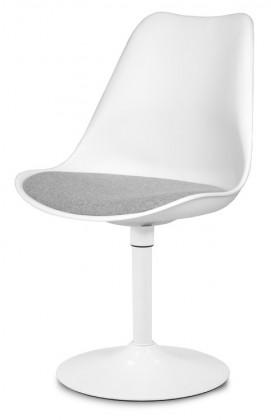 Stolička GINA 9361-413+TRUMPET 9341-801 (biela,šedá,biela)