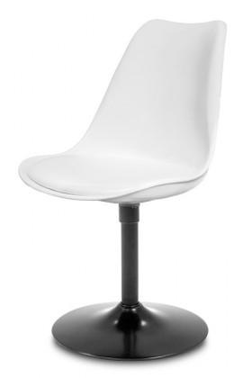 Stolička GINA 9361-801+TRUMPET 9341-824 (biela,čierna)