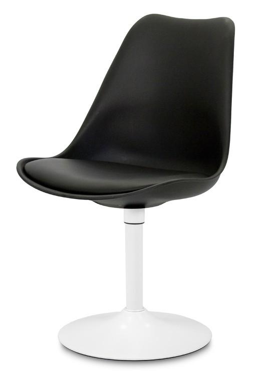 Stolička GINA 9361-824+TRUMPET 9341-801 (čierna,biela)