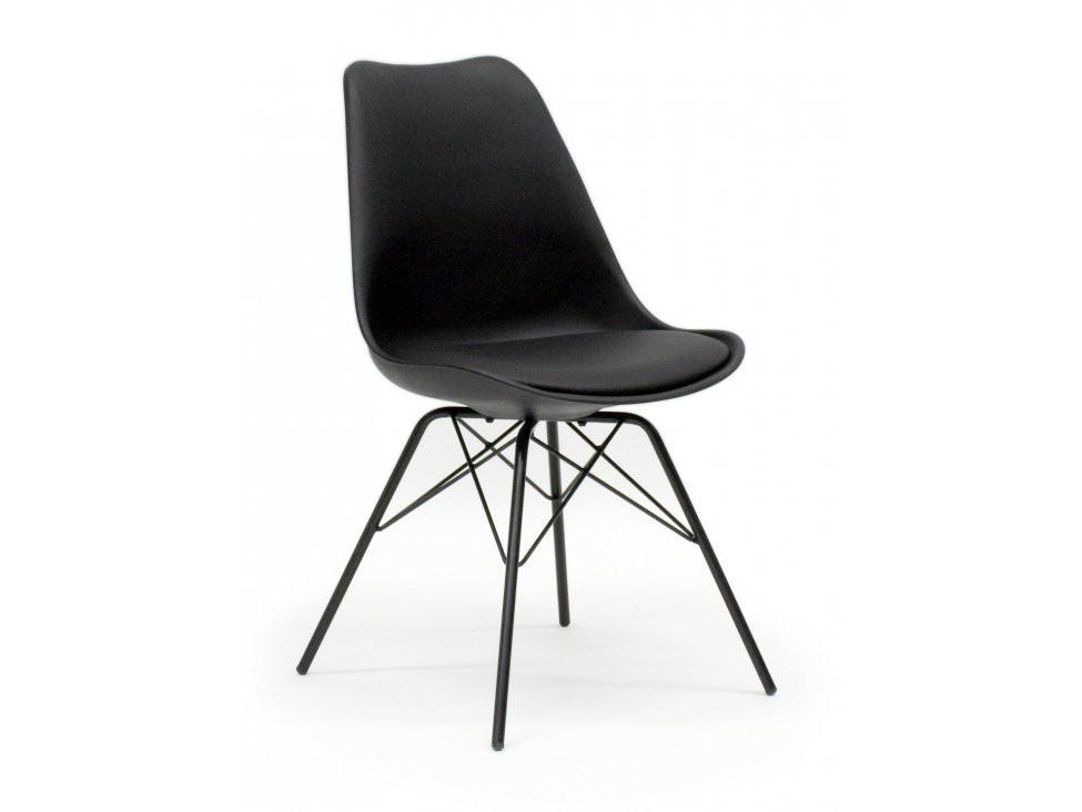 Stolička Gina Porgy (sedák čierna / konštrukcia čierna)