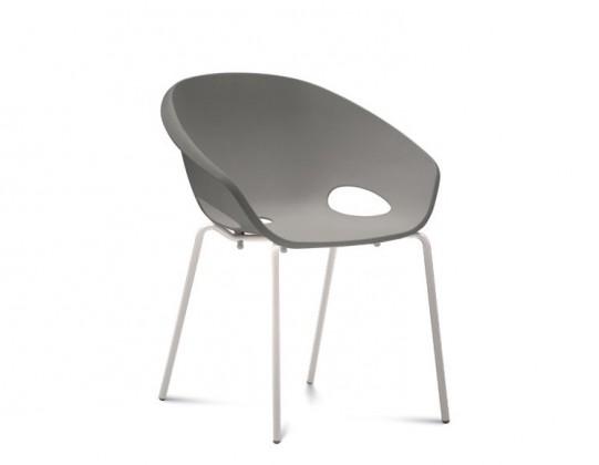 Stolička Globe - Jedálenská stolička (lak biely, piesková)