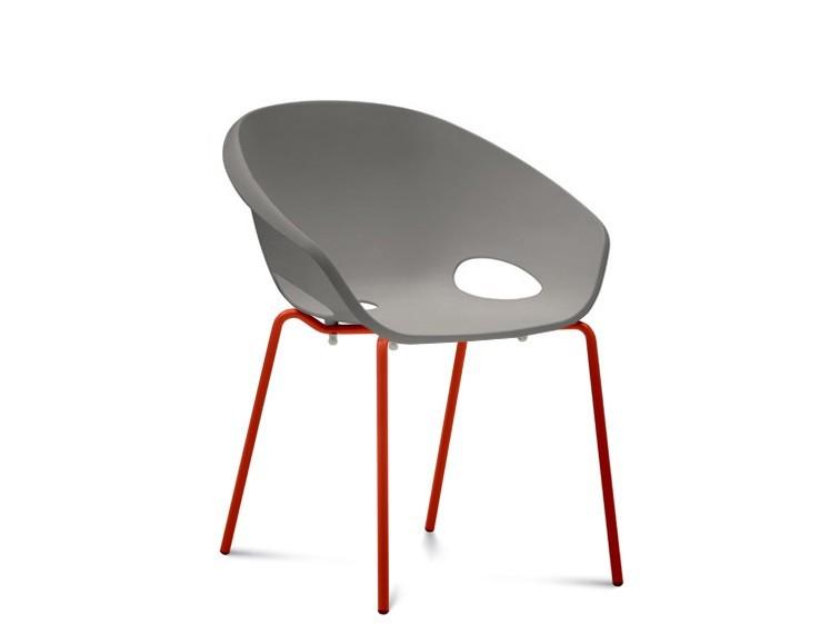 Stolička Globe - Jedálenská stolička (lak červený, piesková)