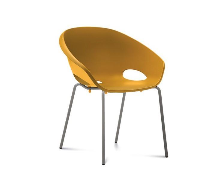 Stolička Globe - Jedálenská stolička (lak pieskový, hořčicová)