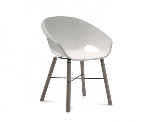 Stolička Globe-L - Jedálenská stolička (antracit lak,antracit lak,biela)
